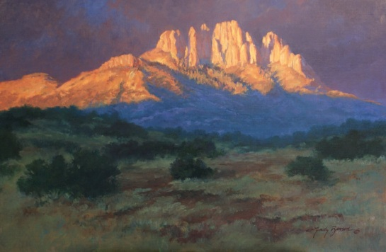 First Light on Sawtooth, 24x36, SOLD