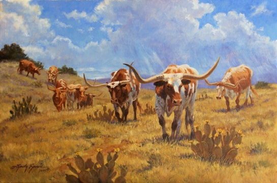 Headin' to the Water Hole, 24x30, SOLD